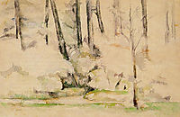 In the Woods, 1894, cezanne