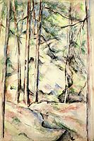In the Woods, 1896, cezanne