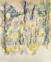 In the Woods, c.1900, cezanne