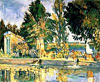 Jas de Bouffan, the pool , c.1876, cezanne