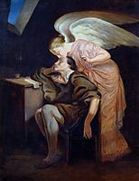 The Kiss of the Muse, c.1860, cezanne