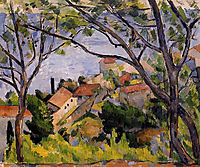 L-Estaque. View through the Trees, 1879, cezanne
