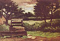 Landscape with fountain, 1867, cezanne