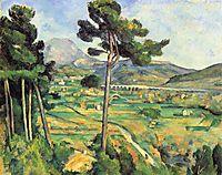 Landscape with viaduct: Montagne Sainte-Victoire , 1887, cezanne
