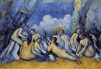 Large Bathers, 1900, cezanne