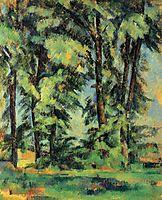 Large Trees at Jas de Bouffan, 1887, cezanne