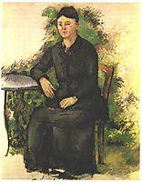 Madame Cezanne in the garden, cezanne