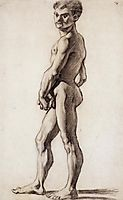 A male nude, 1863, cezanne