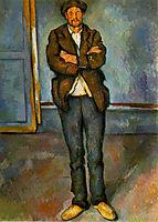 Man in a room, 1890, cezanne
