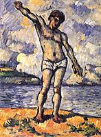 Man Standing, Arms Extended, c.1878, cezanne