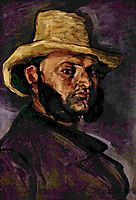 Man in a Straw Hat, 1871, cezanne