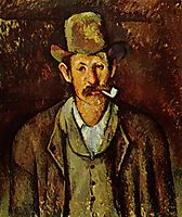 Man with a Pipe, 1892, cezanne