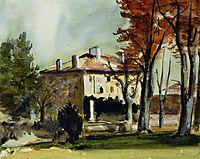 The Manor House at Jas de Bouffan, 1870, cezanne