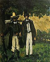 Marion and Valabregue Posing for a Picture, 1866, cezanne