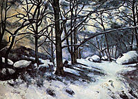 Melting Snow. Fontainbleau, 1880, cezanne