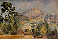 Mont Sainte-Victoire, 1890, cezanne