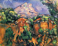 Mont Sainte-Victoire, 1897, cezanne