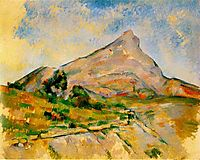 Mont Sainte-Victoire, 1898, cezanne