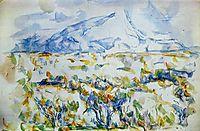 Mont Sainte-Victoire, c.1903, cezanne