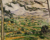 Mont Sainte-Victoire with Large Pine, 1887, cezanne