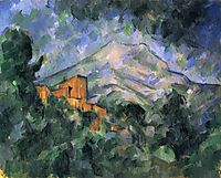 Montagne Sainte-Victoire and the Black Chateau, c.1905, cezanne