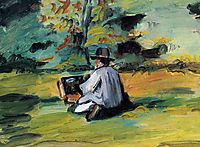 A Painter at Work, 1875, cezanne
