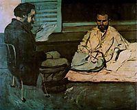 Paul Alexis  Reading a Manuscript to Emile Zola  , c.1870, cezanne