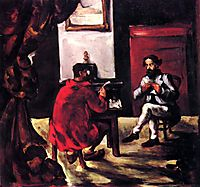 Paul Alexis Reading at Zola-s House, 1870, cezanne