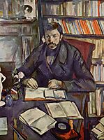Portrait of Gustave Geffroy, 1895, cezanne