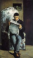 Portrait of Louis Auguste Cezanne, Father, 1866, cezanne