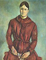 Portrait of Madame Cezanne in a Red Dress , c.1890, cezanne