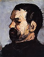 Portrait of Uncle Dominique in Profile, 1866, cezanne