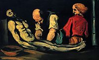 Preparation for the Funeral, 1869, cezanne