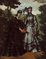 Promenade, 1871, cezanne