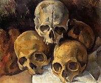 Pyramid of skulls, c.1900, cezanne