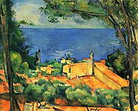The red-roofed Estaques, 1883-1885, cezanne