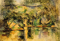 Reflections in the Water, c.1890, cezanne