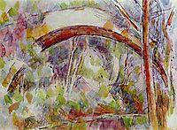 River Bridge to the three sources, 1906, cezanne