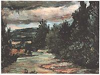 River in the plain, cezanne