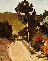 Road in Provence, c.1868, cezanne