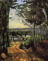 Road, Trees and Lake, c.1882, cezanne