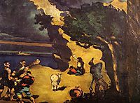 The Robbers and the Donkey, c.1870, cezanne