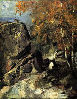 Rock in the Forest of Fontainbleau, 1868, cezanne