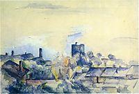 Roofs in L-Estaque, 1882, cezanne