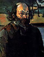 Self-portrait, 1875, cezanne