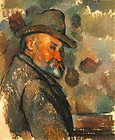 Self-Portrait in a Felt Hat, 1894, cezanne