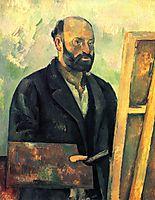 Self-Portrait with Palette, c.1890, cezanne