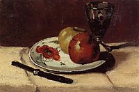 Still Life Apples and a Glass, 1873, cezanne