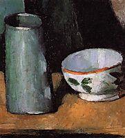 Still Life, Bowl and Milk Jug, c.1877, cezanne