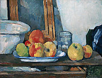 Still life with open drawer, 1877-1879, cezanne